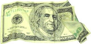 $100 Bill Silk Handkerchief