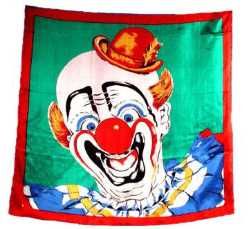 Clown Silk Handkerchief