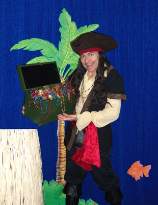 Magical Pirate Captain Helps Children Learn that Books are a Treasure