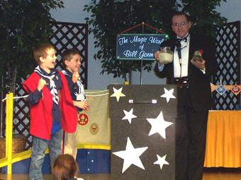 Scouts Enjoying the Magic, Illusion and Fun