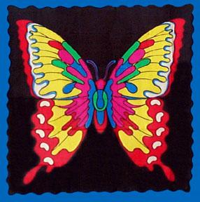 Butterfly Silk Handkerchief