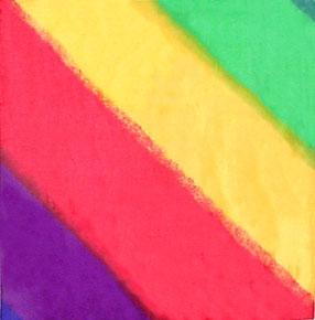 Multi Color Diagonal Silk Handkerchief