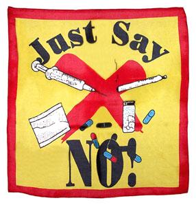 Just Say No Silk Handkerchief