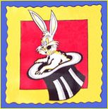 Rabbit in the Hat Silk Handkerchief