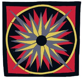 Medallion Silk Handkerchief